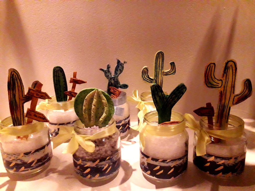 récup pots en verre