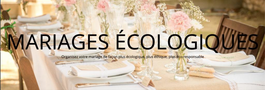 fête écolo par mariage écologique